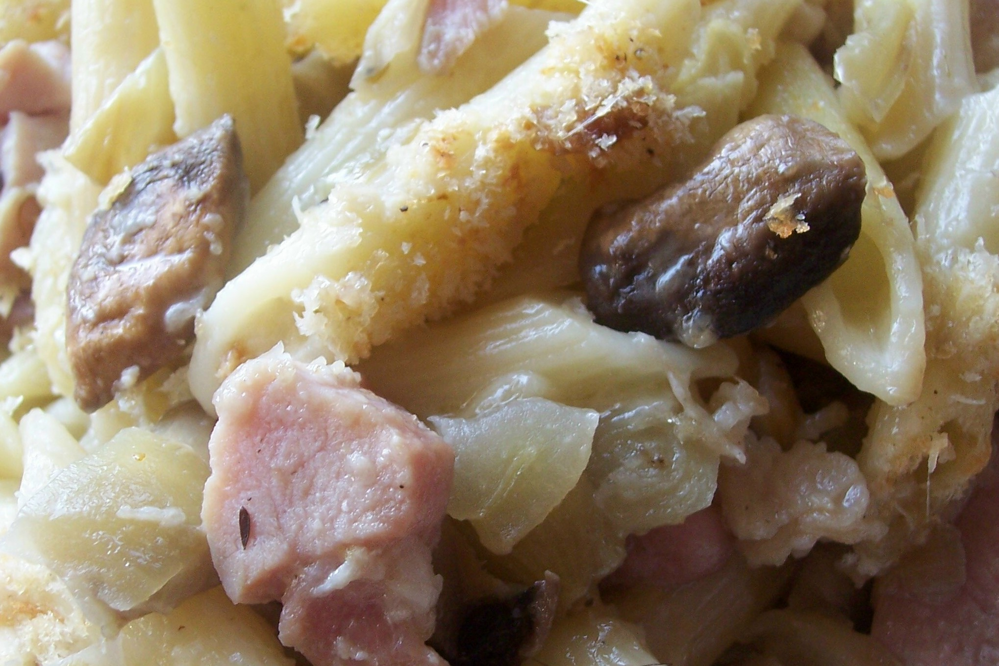 Baked Pasta with Fennel, Cream & Ham | Meanderings through my cookbook