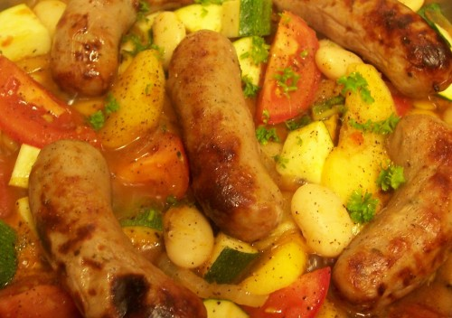 100_8344 Sausage & Apple Cassoulet