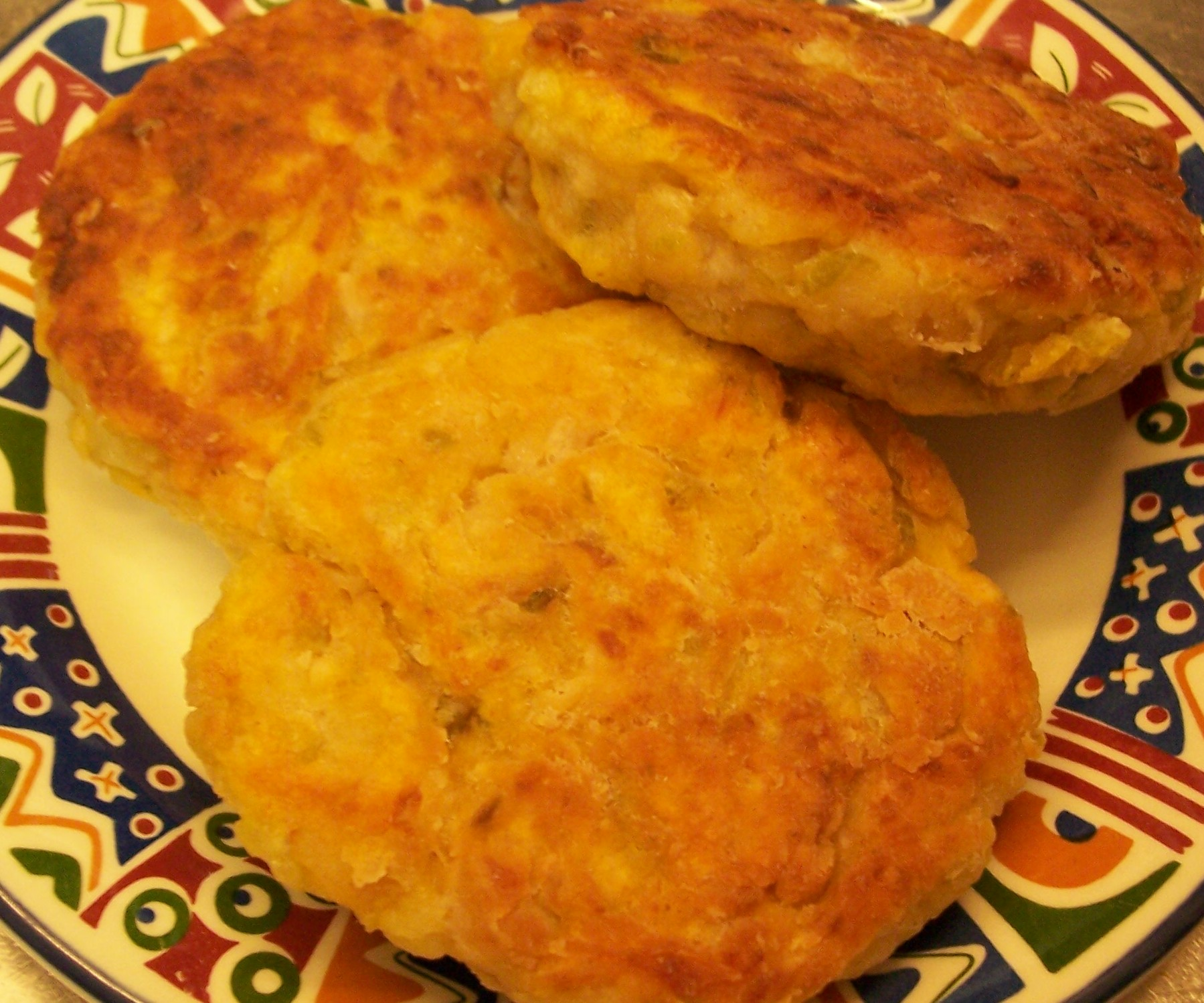 Hyacinth s salt fish cakes meanderings through my cookbook for How to make fish patties